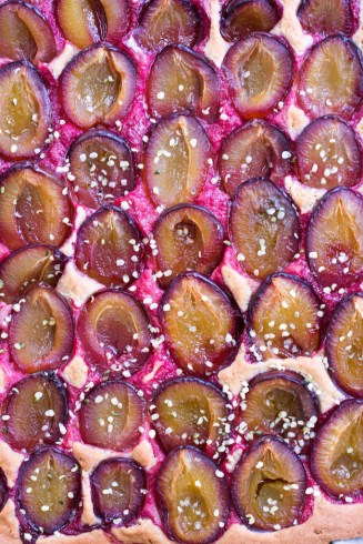 Plum Cake with Buckwheat & Spelt Dough - vegan, plant based, gluten free option, refined sugar free, healthy - heavenlynnhealthy.com