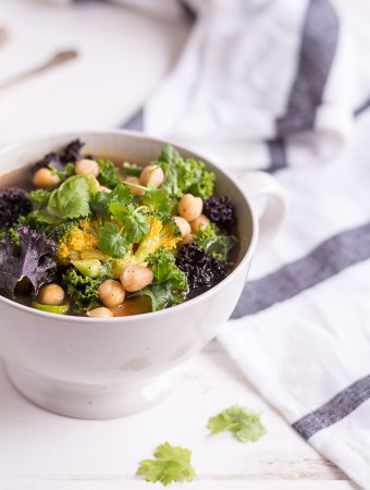Green Kale Vegetable Soup - plant-based, vegan, gluten free, refined sugar free - heavenlynnhealthy,com