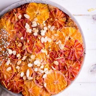 Healthy Lemon Blood Orange Cake - plant-based, vegan, gluten free, refined sugar free - heavenlynnhealthy.com