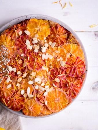 Healthy Lemon & Blood Orange Upside Down Cake