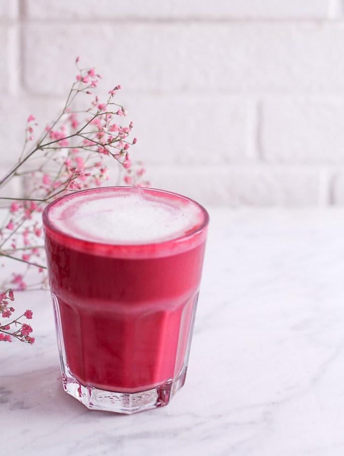 Beetroot Latte - plant-based, vegan, gluten free, refined sugar free - heavenlynnhealthy.com