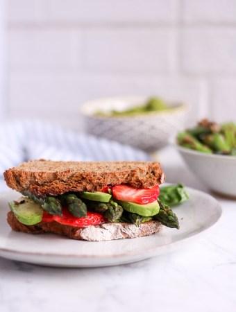 Asparagus Sandwich with Pea Basil Creme