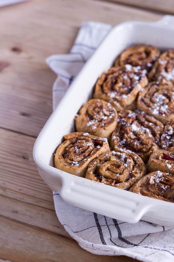 Healthier Apple-Cinnamon Rolls - plant-based, vegan, gluten free, refined sugar free - heavenlynnhealthy.com