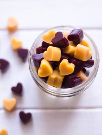 Healthier ginger gummy bears (vegan!) for cold season