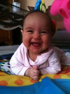 happy baby Jasmin