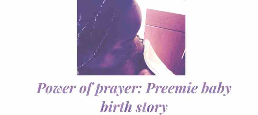 Power of prayer birth story