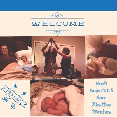 welcome baby Noah
