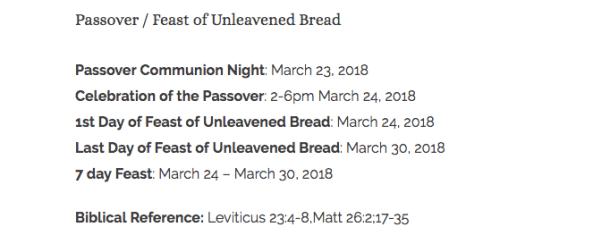 Passover Celebrations! | Heavenly Treasure