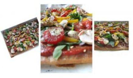 Garbanzo bean crust pizza