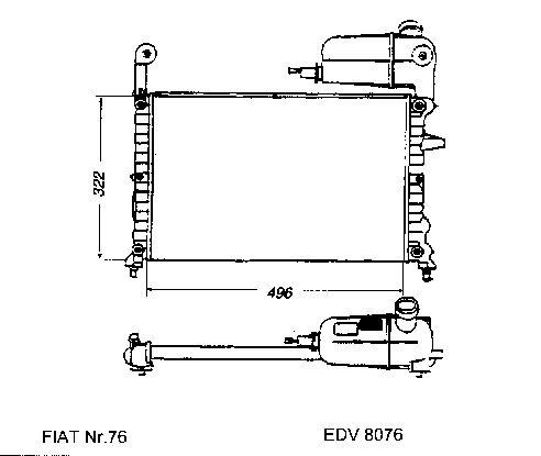 NEU + Kühler > Fiat Tempra SX [ 1.4 / 1.6 > Schaltgetriebe