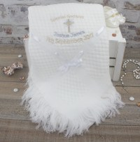 Personalised Godchild Christening Shawl