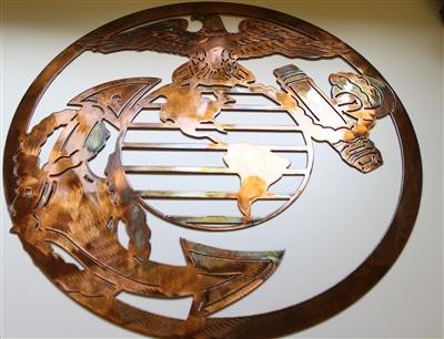 Military Logo 1 Metal Wall Art