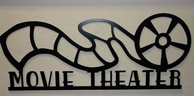 Movie Theater Reel Sign 24 Metal Wall Art Decor