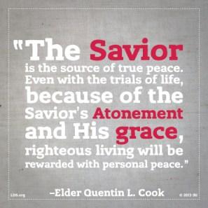 Quinton L. Cook, Peace