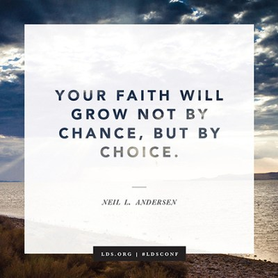 Faith is a choice
