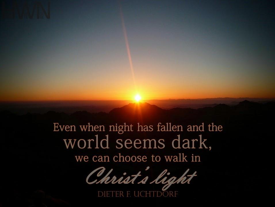 Walk in Christ's light