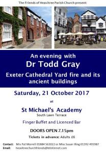 poster for An Evening With Todd Gray, Saturday 21st October at St Michael's Academy, 7.15pm tickets in advance £6