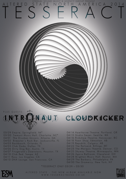Tesseract, Intronaut, Cloudkicker tour