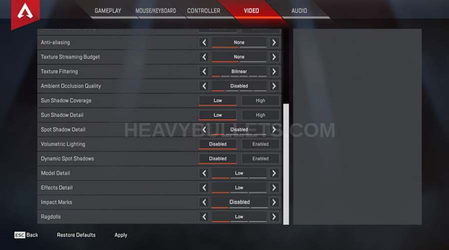 Nesh apex legends settings with keybinds & complete gear   HeavyBullets.com