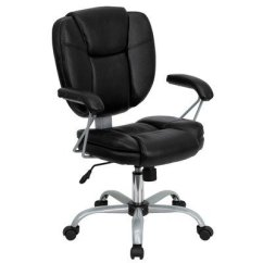 Ergonomic Chair For Short Person Hanging Geelong Best Office Get The Right Petite Flash Furniture Go 930 Bk Gg Mid Back Black Leather Computer Is Also A Well Made Designed People With Legs