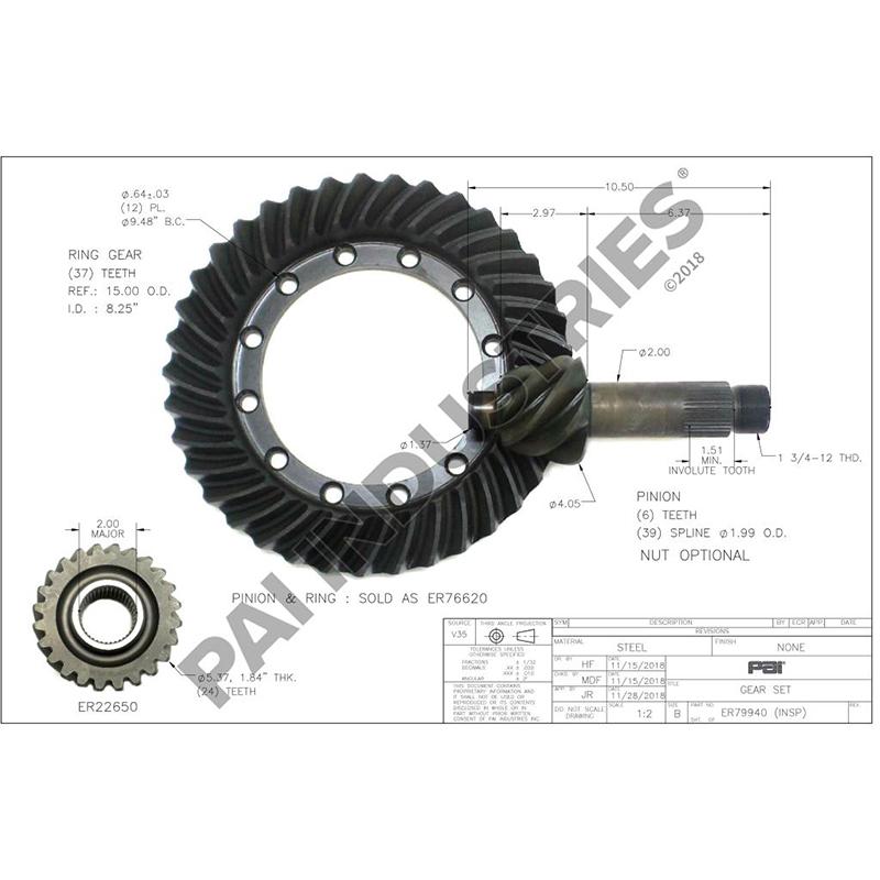 Rockwell Gear Kit, A-35808-23