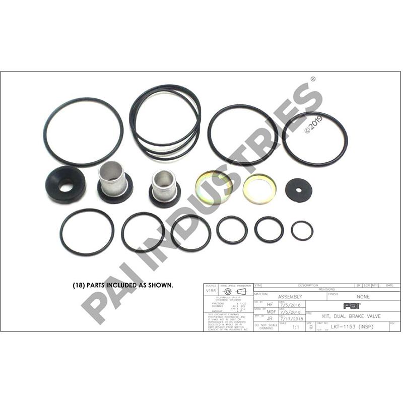 Mack Foot Valve Repair Kit, 745-289352