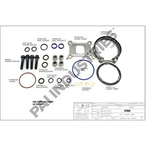 Mack/Volvo Turbocharger Mounting Kit, 85140248