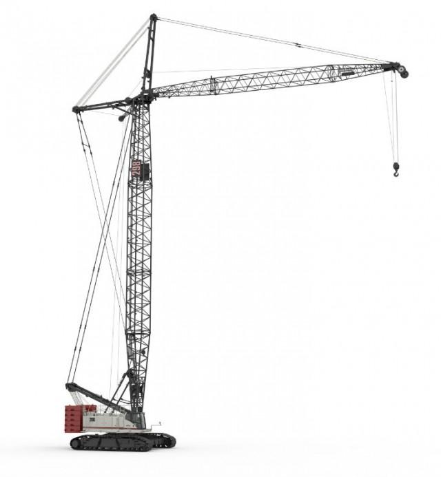 Link-Belt 298 Series 2 lattice crawler crane features easy