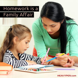 Homework is a family affair