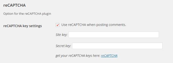 reCAPTCHA - wp