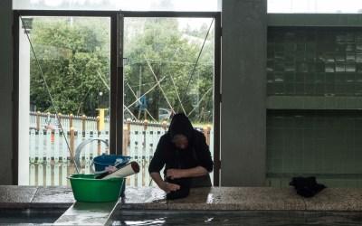 Lady washing