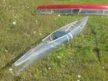 clear kayak rear view
