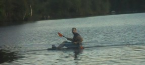 There I am paddling it.