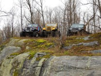 Jeep CJ JK on big rock