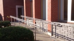 These hand rails were fabricated for North Country Savings Bank in Ogdensburg