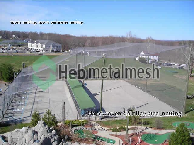 Sports net, sports netting, perimeter netting, barrier netting