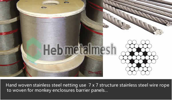 monkey enclosure mesh, monkey exhibit, monkey cages, monkey barrier netting, monkey fencing