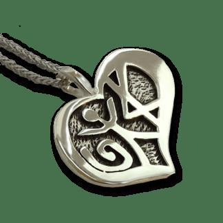 Love Pendant Oxidized