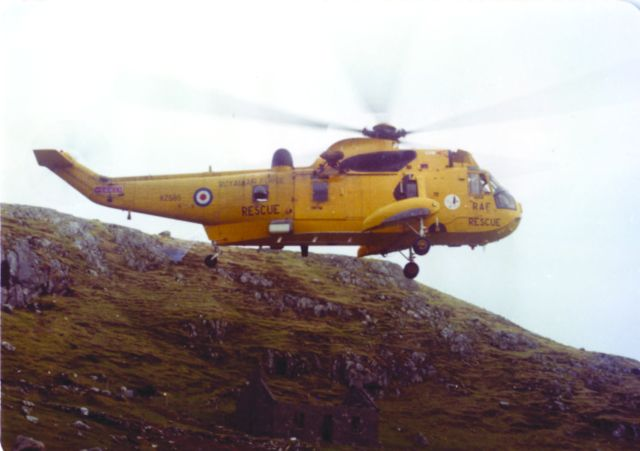 Lossiemouth helicopter on Rhenigidale medical evacuation