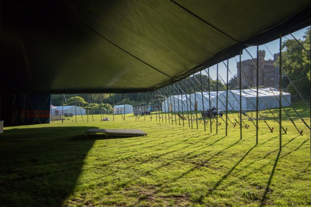 Setting up the festival village for HebCelt
