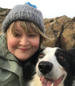 Catriona Murray and her dog