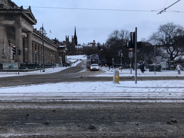Edinburgh in snow