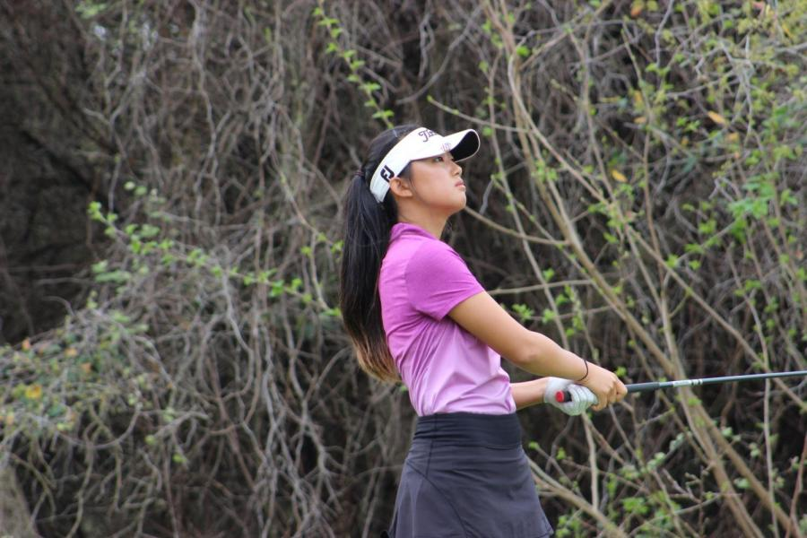 Park+said+she+enjoys+the+competitiveness+of+golf+because+it+pushes+her+to+do+better.+The+state+tournament+will+take+place+May+22.+