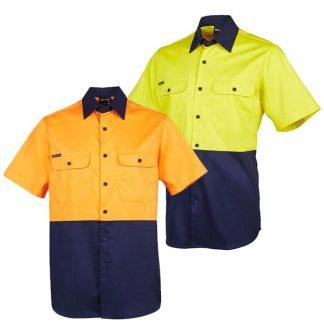 Hi Vis Work Shirt Short Sleeve