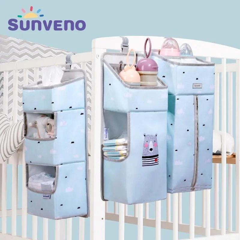 Portable Baby Crib Organizer Bed Hanging Bag