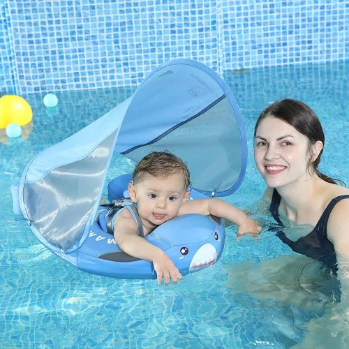 Baby Shark Mambobaby Swim Ring Float(Add Tail Back Flip Prevented)