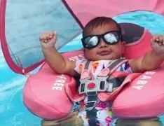 mambobaby float pink backstroke with canopy