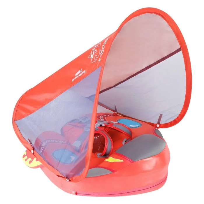 Spaceship Mambobaby float with canopy Coral