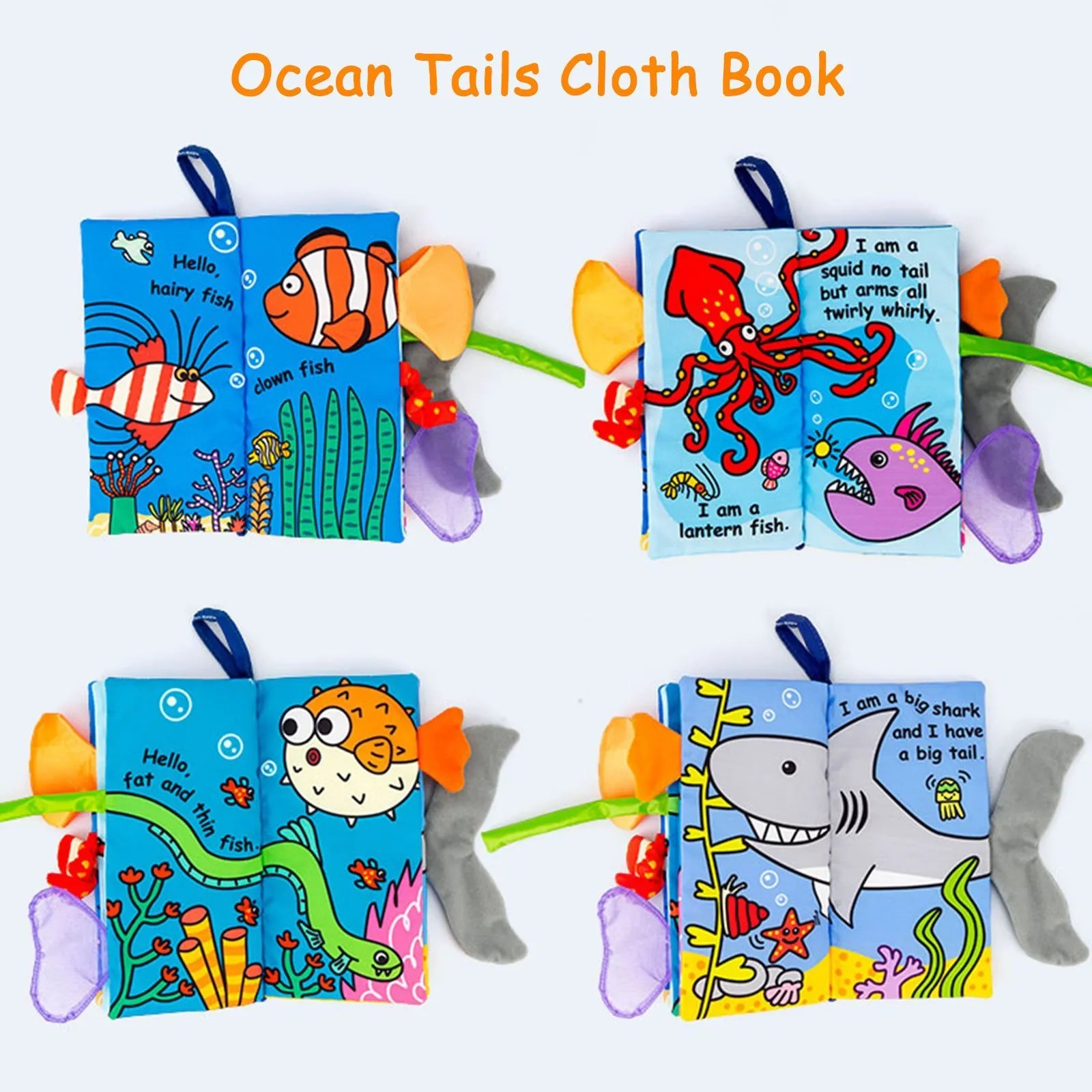 Baby soft book ocean tails