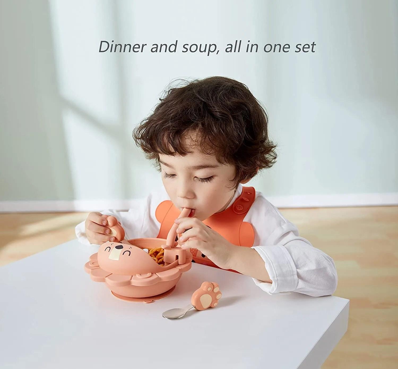 Silicone-Weaning-Baby-Feeding-Set